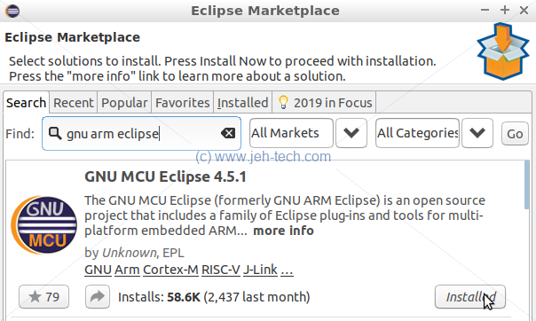 Installing The Eclipse C/C++ IDE For ARM Development | JEHTech